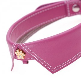 Saville Row Pink Dog Collar