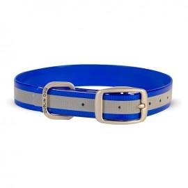 Dublin Dog Koa Waterproof Dog Collar Reflective Reflex Blue