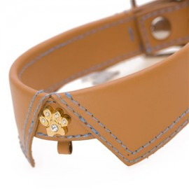 Saville Row Tan Dog Collar