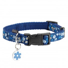 Bobby Flower Collection Nylon Dog Collars in Blue