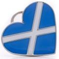 Hamish McBeth Scotland Heart Silver Dog ID Tag