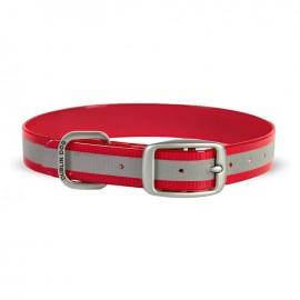 Dublin Dog Koa Waterproof Dog Collar Reflective Reflex Red
