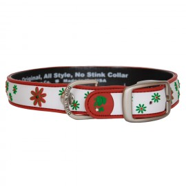 Dublin Dog All Style No Stink Waterproof Collar Daisy Daze Poinsettia Punch
