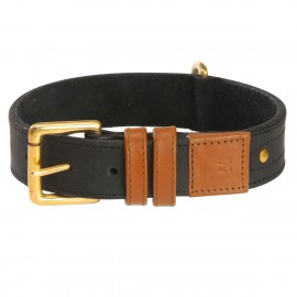 Urban Dog Camel Leather Dog Collar