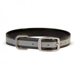 Dublin Dog Koa Waterproof Dog Collar Reflective Reflex Black