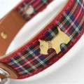 Highland Bling Red Dog Collar