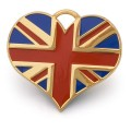 Hamish McBeth Union Jack Gold Dog ID Tag