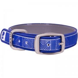 Dublin Dog All Style No Stink Waterproof Dog Collar Chevron Atlantic Blue