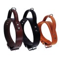Bobby Leather Rounded Dog Collar with Handle