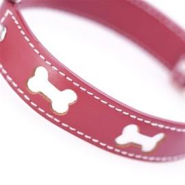 Bones Red Dog Collar