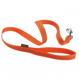 Bobby Safe Collection Reflective Nylon Dog Lead in Orange