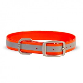 Dublin Dog Koa Waterproof Dog Collar Reflective Reflex Orange