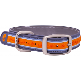 Dublin Dog All Style No Stink Waterproof Dog Collar Wild Flower Tangerine Twist