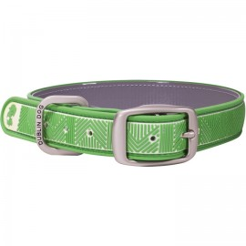 Dublin Dog All Style No Stink Waterproof Dog Collar Chevron Maritime Green