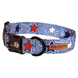 Dublin Dog Americana Starpop Eco Lucks Dog Collar