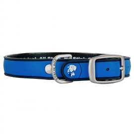 Dublin Dog All Style No Stink Waterproof Dog Collar Simply Solid Blue Ribbon