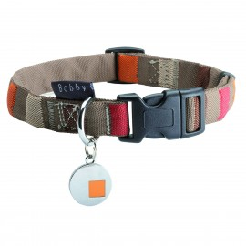 Bobby Talisman Collection Nylon Dog Collars in Beige