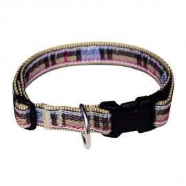Bobby British Collection Nylon Dog Collars in Beige