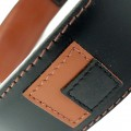 Hamish McBeth Leather Dog Collar Square Dance Black