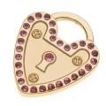 Hamish McBeth Heart Padlock Mini Gold Dog ID Tag