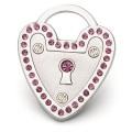 Hamish McBeth Heart Padlock Silver Dog ID Tag